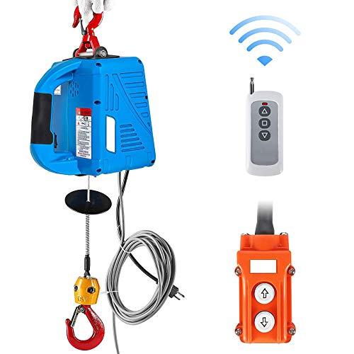 1100Lb Cabrestante Eléctrico Polipasto 3In1 Elevación Cable De Acero De 25Ft Con...