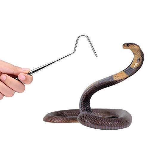 Sheens Zusammenklappbarer Schlangenhaken Ausziehbarer Schlangenfänger-Fanghaken aus Edelstahl zum Fangen Handhabung Grabber Separate kleine Haustierschlange