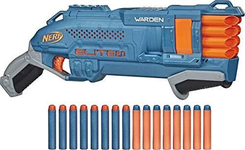 Nerf Elite 2.0 Warden DB-8 Blaster, 16 Nerf Darts, 2 Darts gleichzeitig abfeuern, Tactical Rail Steckschiene zum Anpassen, Schnellfeuer