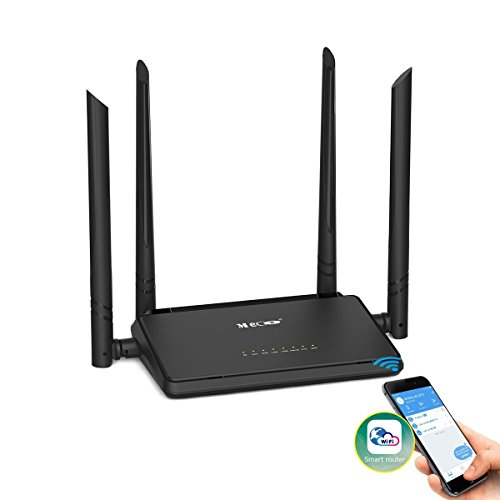 WiFi Router, MECO N300 Wireless Router with 4x5dBi High Gain External Antennas 2.4GHz Band Singnal Extender, Good for Small House and Office