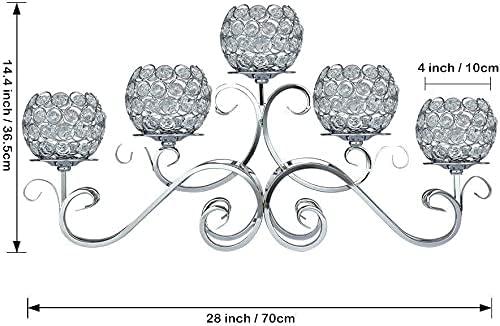5 arm crystal candelabra _image1