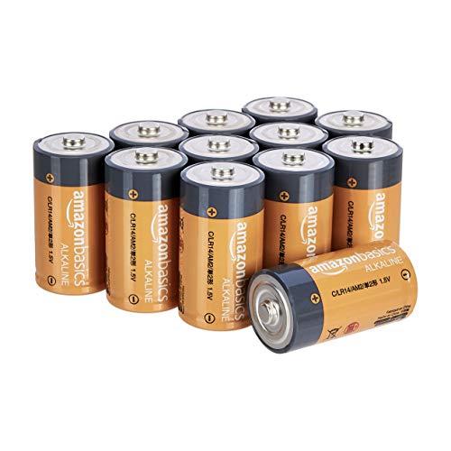 Amazon Basics Everyday C-Alkalibatterien, 1,5V, 12 Stück (Aussehen kann variieren)