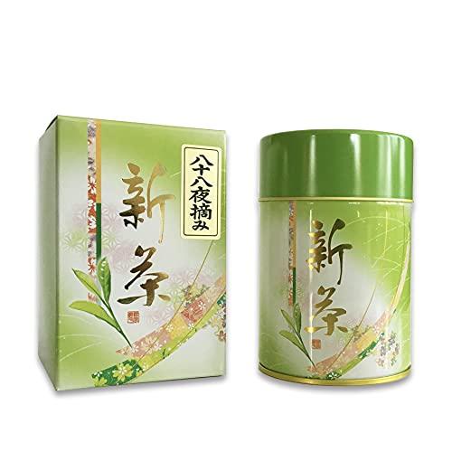 【限定 200缶】 摘みたて 静岡 新茶 100g 深蒸し茶 [八十八夜 摘み 希少最高級茶葉] 日本一の大茶園 茶葉 静岡茶 緑茶 日本茶 100% 新芽のみ 2021年 真空パック