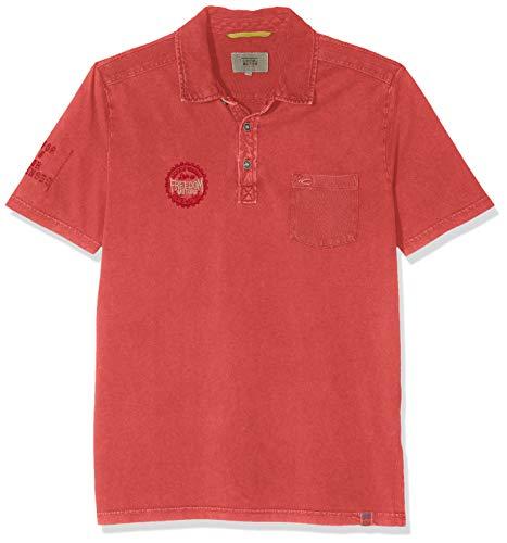 camel active Herren Polo 1/2 Jersey Poloshirt, Rot (Dark Coral 44), (Herstellergröße: XX-Large)