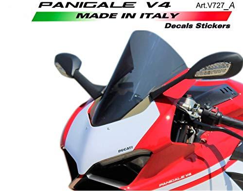 Vulturbike Sticker Nummer Plaat Achtergronden Scherm Ducati Panigale V4 Gold Metallized