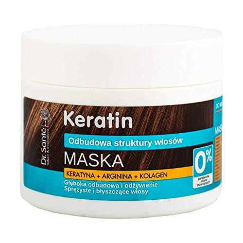 Dr. Santé Keratin Haarmaske Collagen und Arganine tief Regeneration 300ml 0% Parabenen und Mineralölen