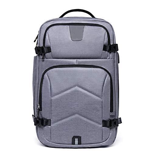 WUHUAROU Mochila de Viaje al Aire Libre para Hombres Mochila para computadora portátil con Carga USB Bolsas para computadora de Gran Capacidad Escalada Senderismo (Color : Gray)