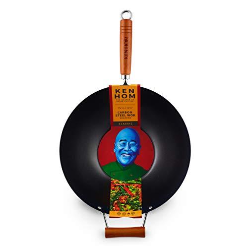 Ken Hom KH335001U Classic Stir Fry Wok 14quot Black