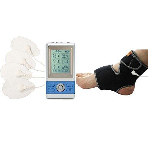 HealthmateForever Mejor portátil muscular pulso 6 modos masajeador gran tobillo pie Fascitis Plantar tablilla azul