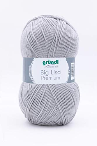 Großknäuel Big Lisa premium uni, 250 g/665 m LL/Babywolle,Universalgarn, NS 3,5-4,5 (98 hellgrau)