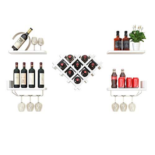 Weinregal ZHAOSHUNLI Rack Wandmontage Kreative Moderne Minimalistische Startseite Wohnzimmer Bar Warm White