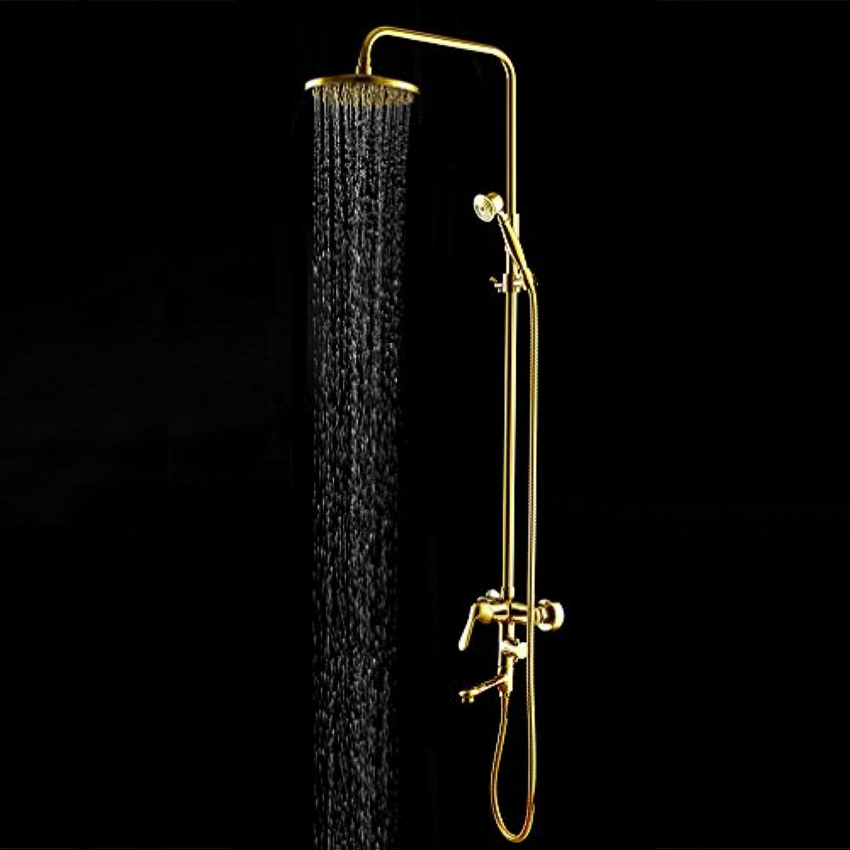 AiRobin-Continental Messing VerGoldet Einzigen Handgriff Regen Duschsystem