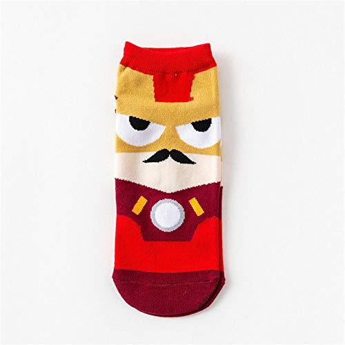 MEN.CLOTHING-LEE 1 par / 5 Pares Superhéroes Calcetines para Hombres Tallas Grandes Superman Batman Capitán Arrowman Superhéroes Invisible Happy Socks Funny-2_5_Pair