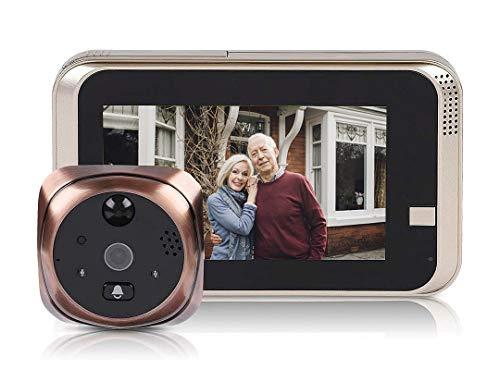 Bewinner Wireless Video Türklingel 4.3inch 720P HD Überwachungskamera 166 ° Nachtsicht Bewegungserkennung WiFi Smart Türklingel Türklingel für Home Security, Unterstützung 32G SD TF Karte