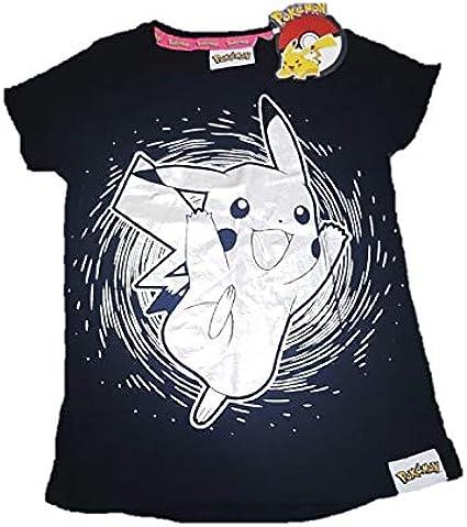 Camiseta negra de Pokemon Pikachu con licencia de Primark ...