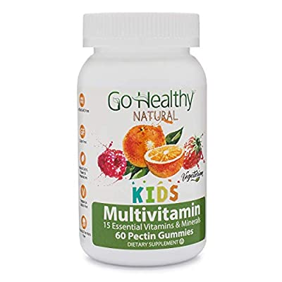 Go Healthy Natural Multivitamin Gummies for Kids, Vegetarian, OU Kosher, Halal (60 ct) 30 Serving Immune Support Vitamin C, D3 + Zinc