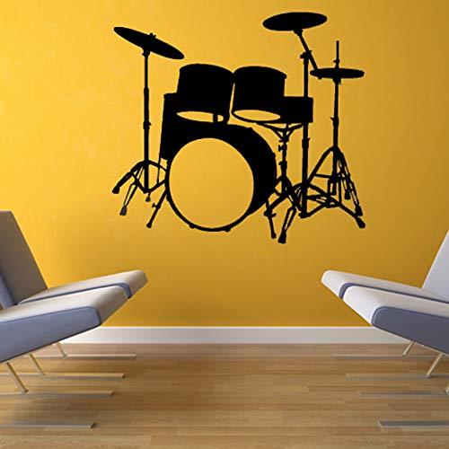 yaonuli Muziekinstrument drum muur sticker huisdecoratie vinyl verwijderbare waterdichte muur sticker woonkamer