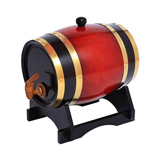 Weinfass aus Holz 1.5L Eichenfass , Eiche Lagertanks Eingebauter Aluminiumfolie Liner zum Brauen oder Speichern Whiskey, Bier, Brandy, Tequila, Praktisch und  Dauerhaft (mit Wasserhahn) weinfässer
