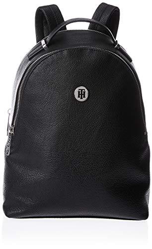 Tommy Hilfiger Damen Th Core Mini Backpack Umhängetasche, Schwarz (Black), 28x22.9x10.2cm