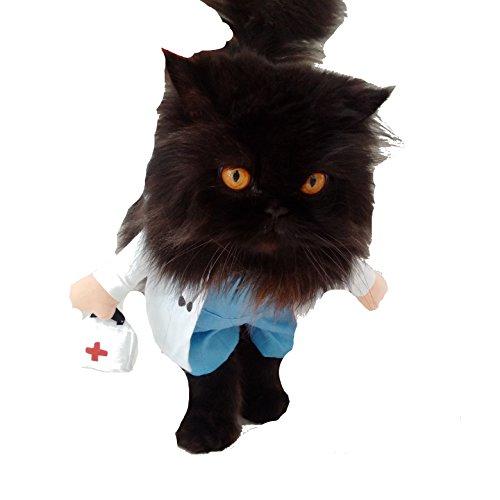 Glamour Girlz super schattig honden katten aankleden halloween grappige kostuum dokter, XL, Meerkleurig