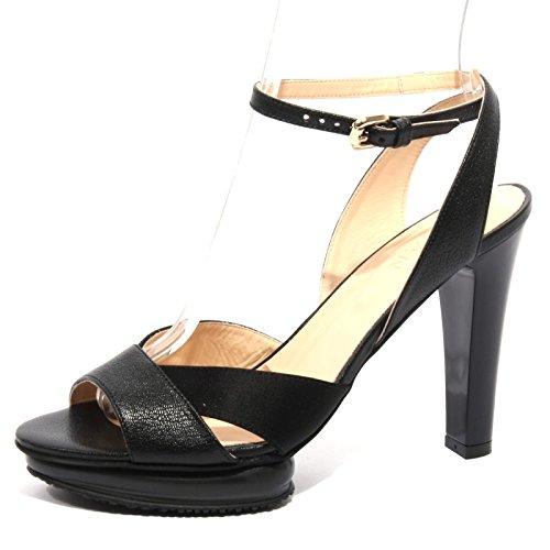 Hogan B1253 Sandalo Donna fasce incrociate Scarpa nera Shoes Woman [39]