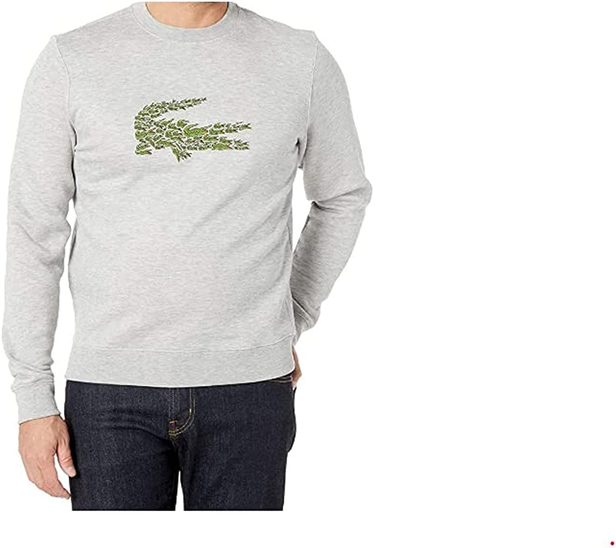 Lacoste Mens Long Sleeve Brushed Molleton Winter Sweater