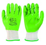 Manicura productos del mundo 98536 - Guante de jardinería impermeable para palma/dedo, T10, color verde y blanco, 10