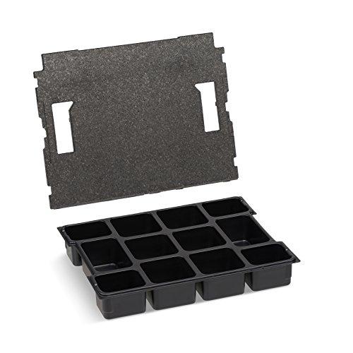 Bosch Sortimo Kleinteileeinsatz | Mit 12 Fächern inkl. Deckeneinlage | Sortimentskasten Einsatzboxen | Ideal als L-BOX 102 Einsatz | Sortierbox