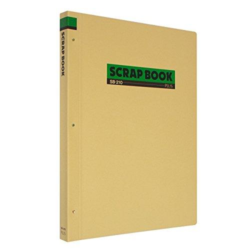 プラススクラップブック(両面クラフト紙表紙)中紙30枚B4縦SB-21033-243