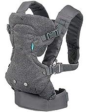 Infantino Porte bébé Flip Advanced 4 en 1 - Porte bébé avec assise ergonomique, ajustable, mode de portage face au monde et face à soi, pour nouveaux nés et bébés de 3,5 à 14,5 kg