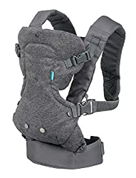 Design: 4-in-1 convertible carrier with an adjustable ergonomic seat and adjustable shoulder straps, waist belt and includes wonder cover 2-in 1 bib to protect your carrier and clothes Wearing positions: Convertible facing-in and facing-out design fo...
