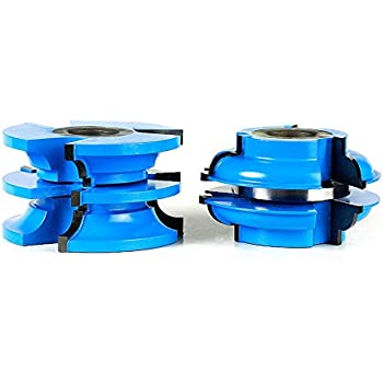 Amana Tool - SC582 2-Piece Carbide Tipped 3-Wing Stile & Rail Bead Cabinet Door 2-27/32 Di