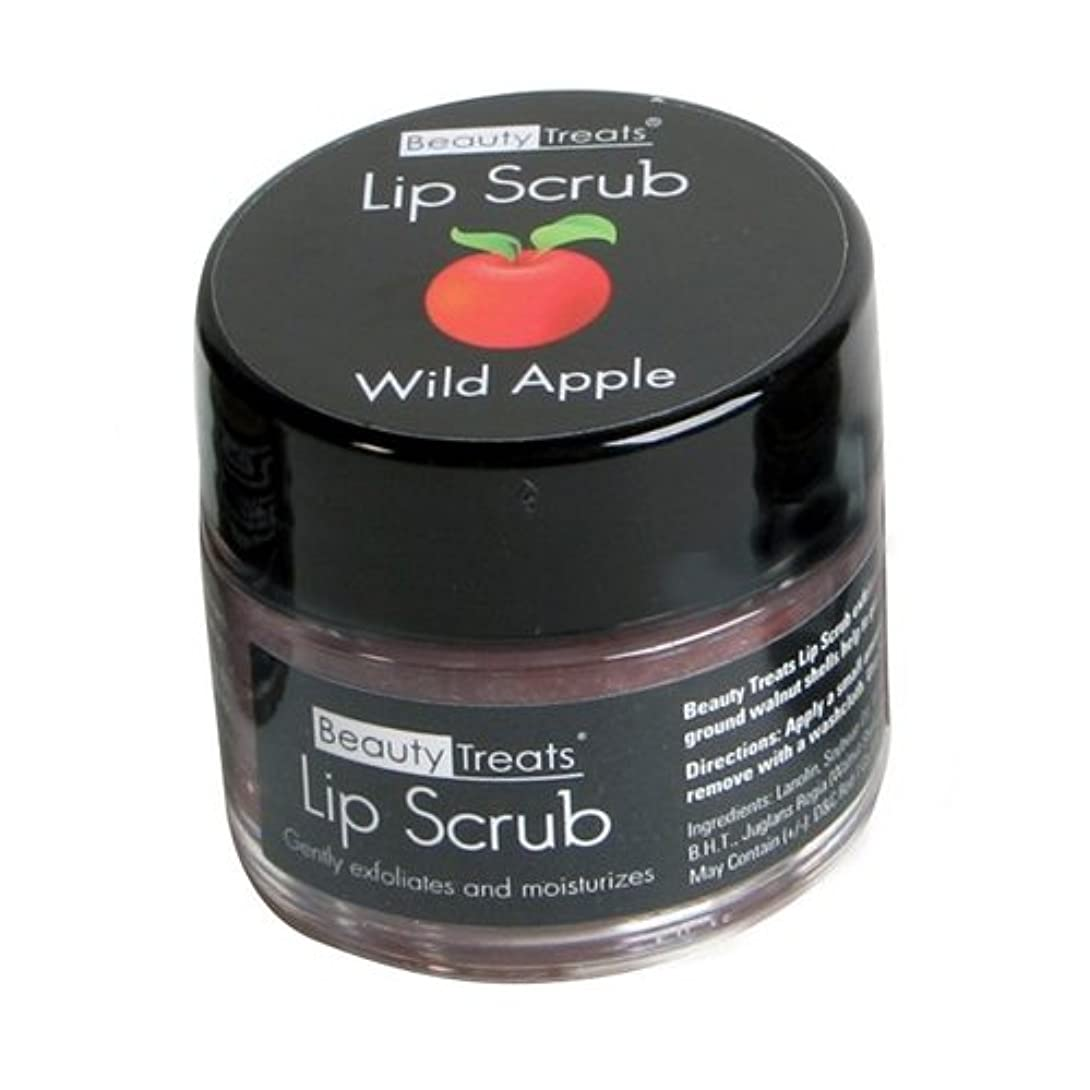 失望ハング禁止(6 Pack) BEAUTY TREATS Lip Scrub - Wild Apple (並行輸入品)