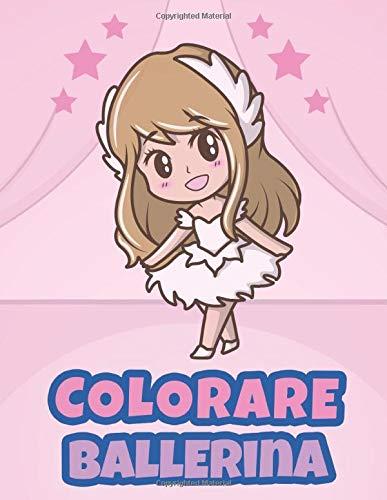 Colorare Ballerina: Libro da colorare per bambini Età 4-9
