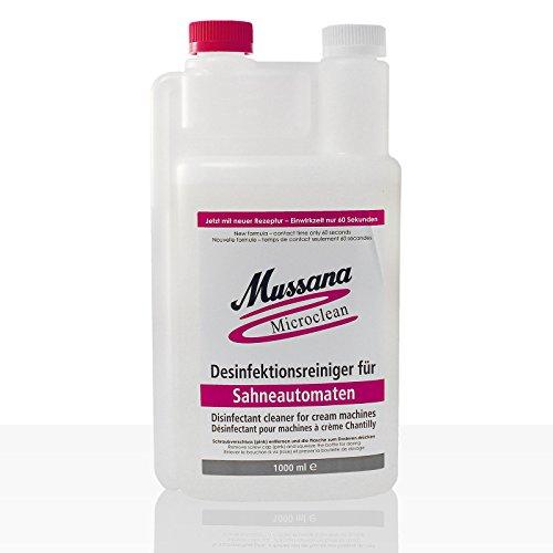 Mussana Microclean Desinfektionsreiniger für Sahneautomaten Karton 12 x 1l