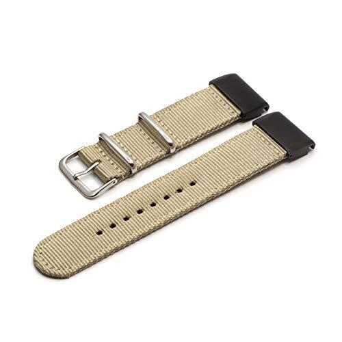 RHBLHQ Correa de Reloj Ver Banda de Nylon 26 22 20MM Inteligente Reloj de Pulsera de Banda Correa de Reloj de Nailon (Band Color : Khaki, Band Width : 20mm)