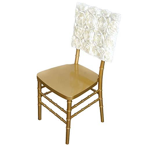 Rosette Chiavari Satin Chair Caps C…