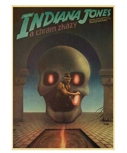 JCYMC Leinwand Bild Vintage Klassiker Indiana Jones Poster Für Home Bar Wanddekoration Yb48Qz 40X60Cm Rahmenlos