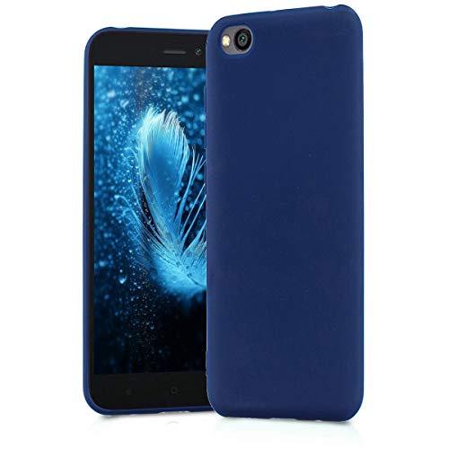 BESTCASESKIN Funda Compatibile con Xiaomi Redmi Go Carcasa Silicona [Colores del Caramelo] Protector Ultra-Delgado TPU Goma Gel Flexible Caso teléfono móvil Protección Case, Azul Oscuro