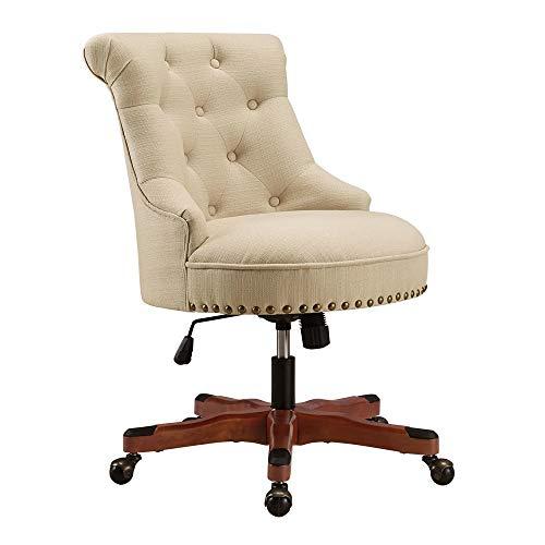 Linon Pamela Office Chair Beige