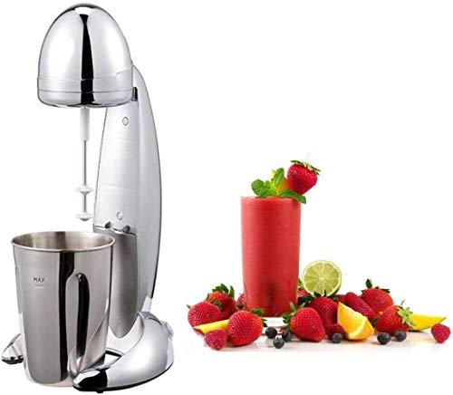 JUNG-CM01-Milchshake-Mixer-Chromdesign-Milchshaker-elektrisch-100W-Becher-600ml-geeignet-als-Fitnessdrink-Eiweiss-Shaker-2-Geschwindigkeiten-Standmixer