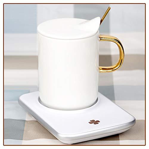 LXLTLB Calentador de Café, Calentador de Bebidas Portátil, Interruptor Táctil, Temperatura Constante Automática, Parte Inferior de la Taza de Energía en Forma de Panal