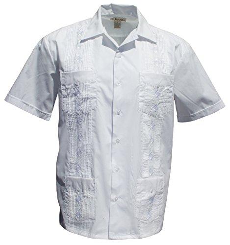 Foxfire Sportswear Men's Guayabera Shirt (Large, White)
