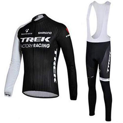 Abbigliamento Da Ciclismo Autunnale Da Uomo, Tuta Da Ciclismo A Maniche Lunghe, Fodera In Gel 3D, Set Completo Elegante, Abbigliamento Da Ciclismo Da Uomo (XL,3)