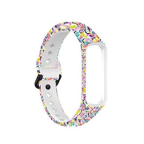 Banda Deportiva Ajustable Compatible para Samsung Galaxy Fit 2, Bandas de Repuesto de Silicona Suave para Reloj Inteligente Galaxy Fit2 SM-R220, Pulsera de Fitness con Correa para Mujeres y Hombres