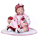 Doll Reborn - 55cm - Bouche magnétique - Look réaliste - Robe rouge - Thanksgiving, Black Friday, Christmas