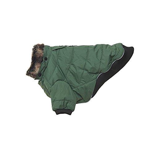 Kruuse Buster Country wasserfester Hunde Wintermantel (Medium) (Enten Grün)