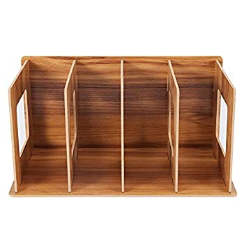 Simlug Wooden Desktop Bookshelf Rack Books DVD Storage Magazine Holder  #02 Cherry Wood