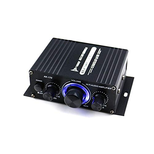 Tarjeta de sonido Control de 12V mini amplificador de energía audio digital de audio Receptor de doble canal 20W + 20W Graves Agudos de volumen for el coche uso en el hogar Interfaz de Audio USB