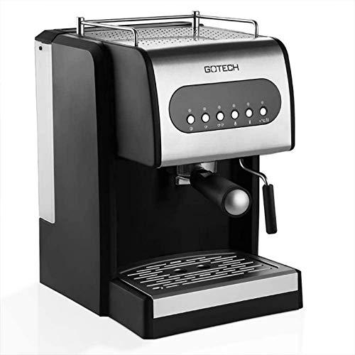 YQGOO Cafetières Machine à Expresso à Nettoyage Automatique à Un Bouton 12 Saveurs - Type de Pompe 15 Bars avec contrôle de la température et Isolation - Mousseur à Lait Cappuccino à Vapeur